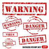 Grunge Danger stamp set Royalty Free Stock Photo