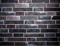 Grunge dark brick wall with black and brown bricks for urban style interiors . Grunge dark brick wall with black and brown bricks. Used also  for urban style Stock Photos