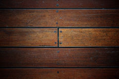 Grunge dark brown wood floor Stock Photo
