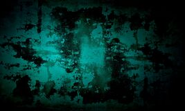 Grunge dark green and black color peal wall texture of concrete floor background for creation abstract.