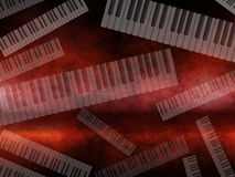 Grunge Dark Music Keyboard Background Royalty Free Stock Photography