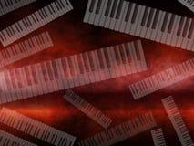 Grunge Dark Music Keyboard Background Royalty Free Stock Photography