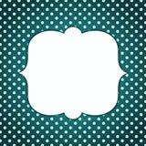 Grunge dark polka dot frame template Stock Images