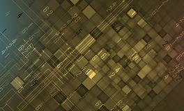 Grunge data technology background. Retro computer futuristic sty Royalty Free Stock Image