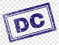 Grunge DC Rectangle Stamp stock illustration