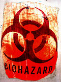 Grunge de Biohazard Photographie stock