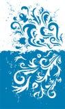 grunge de bleu de fond Images libres de droits