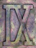 Grunge de chiffre romain Images libres de droits