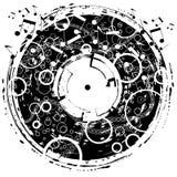 Grunge de disque Photographie stock libre de droits