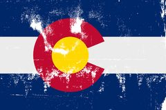 Grunge de drapeau d'état du Colorado illustration libre de droits