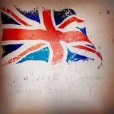 Grunge de drapeau du R-U, Grande-Bretagne Photos libres de droits