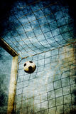 Grunge de but du football Photo stock
