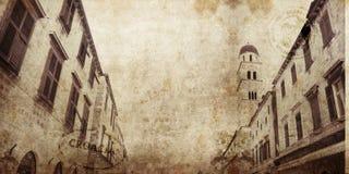 Grunge de Dubrovnik Fotografía de archivo libre de regalías
