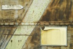 grunge de fond de flèche rouillée Image libre de droits