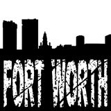 Grunge de Fort Worth com skyline Imagem de Stock