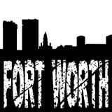 Grunge de Fort Worth con horizonte Imagen de archivo