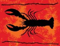 Grunge de homard Photos libres de droits