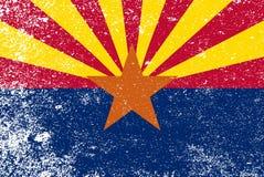 Grunge de la bandera del estado de Arizona stock de ilustración
