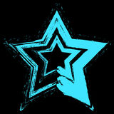 Grunge de la estrella azul Fotos de archivo libres de regalías