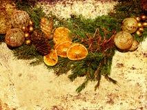 Grunge de la guirnalda de la Navidad Foto de archivo libre de regalías