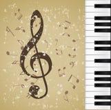 Grunge de la música de fondo Imagen de archivo libre de regalías
