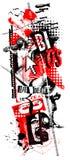 Grunge de la polca de la basura del arte de Digitaces Jesús stock de ilustración