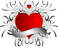 Grunge de las tarjetas del día de San Valentín Imagenes de archivo