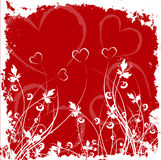 Grunge de las tarjetas del día de San Valentín Foto de archivo libre de regalías