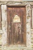 Grunge de madeira resistido da entrada da porta sujo Imagem de Stock