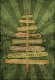 grunge de Noël de fond Photo libre de droits