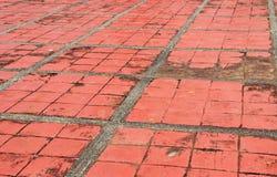 Grunge de plancher de brique Photographie stock libre de droits
