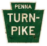 Grunge de signe de péage de la Pennsylvanie images libres de droits
