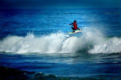 Grunge de surfer de vol Images stock