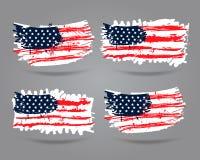 Grunge de vlag van de V.S. Stock Foto