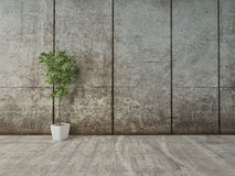 Grunge decor interior with concrete wall Stock Images