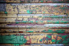 Grunge decorative wood texture with peeling paint Royalty Free Stock Images