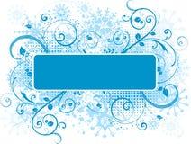 Grunge decorativo del copo de nieve libre illustration