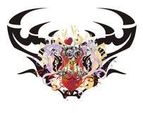 Grunge deer head Royalty Free Stock Image