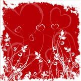 Grunge dei biglietti di S. Valentino Fotografia Stock Libera da Diritti