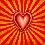 Grunge dei biglietti di S. Valentino del cuore di amore illustrazione di stock