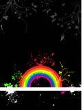 Grunge del arco iris stock de ilustración