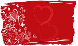 Grunge del biglietto di S. Valentino fotografia stock