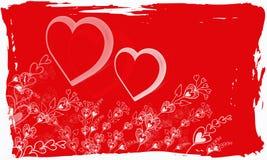 Grunge del biglietto di S. Valentino immagine stock