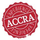 Grunge del caucho del sello de Accra Imagen de archivo libre de regalías