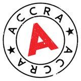 Grunge del caucho del sello de Accra Fotos de archivo libres de regalías