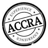 Grunge del caucho del sello de Accra Foto de archivo libre de regalías