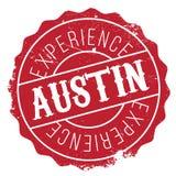 Grunge del caucho del sello de Austin stock de ilustración