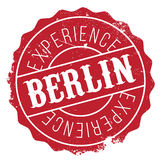 Grunge del caucho del sello de Berlín Foto de archivo