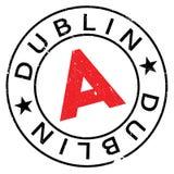 Grunge del caucho del sello de Dublín Fotos de archivo