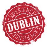 Grunge del caucho del sello de Dublín Fotografía de archivo